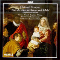 CD-Cover: Graupner, Epiphanias-Kantaten